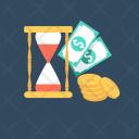 Investment Money Hourglass Icon