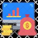 Monitor Graph Money Icon
