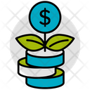 Investment Growth Coins Icon