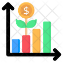 Investment Growth Growth Chart Growth Graph Icon