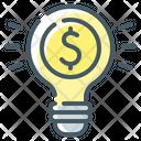 Light Bulb Investment Idea Idea Icon