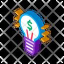 Lamp Light Money Icon