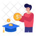 Education Expense Education Cost Investment In Education Icon