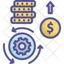 Investment Process Business Coin Icon