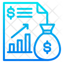 File Report Money Bag Icon