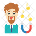 Magnet Coins Money Icon