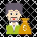 Dollar Pay Bag Icon