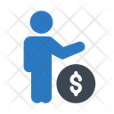 Dollar Care Money Icon