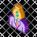 Investor Crowdfunding Business Icon