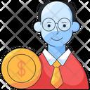 Investor Businessman Money Icon