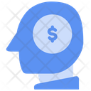 Coin Dollar Head Icon