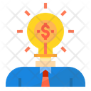 Bussiness Idea Investor Mind Creative Thinking Icon