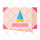 Invitaion Birthady Invitation Envelope Icon