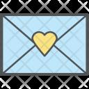 Invitation Letter Love Icon