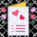 Invitation Card Heart Icon