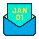 Email Invitation Newyear Icon