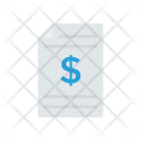 Invoice Files Document Icon