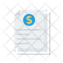 Invoice Tax Document Icon