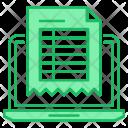 Invoice Bill Online Icon