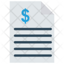 Invoice File Document Icon