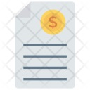 Invoice Document Page Icon