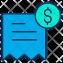 Invoice Receiot Money Receipt Icon