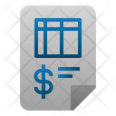 Invoice File Accounting Icon