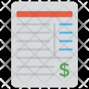 Bank Statement Invoice Icon