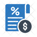 Invoice Bill Discount Icon