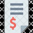 Invoice Finances Report Marketing Report Icon