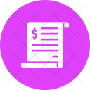 Invoice Bill Statement Icon