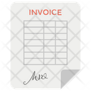 Invoice Bill Receipt Shopping Bill Icon