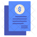 Commercial Invoice Income Icon
