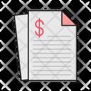Invoice Bill File Icon