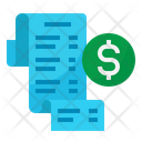 Invoice Cash Receipt Icon