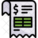Online Shopping Invoice Receipt Icon