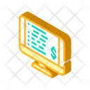 Monitor Check Payment Icon