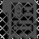 Invoice Bitcoin Invoice Bitcoin Reciept Icon