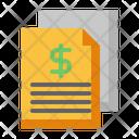 Invoice Bill Statement Icon