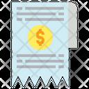 Invoice Money Receipt Icon