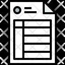 Invoice Paper Finance Icon
