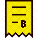 Invoice Bitcoin Icon