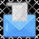 Bill Mail Receipt Mail Bill Letter Icon