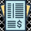Invoice Paper Icon