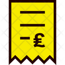 Invoice Pound Icon