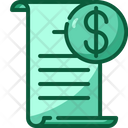 Invoice Receipt Bill Receipt Bill Payment Icon