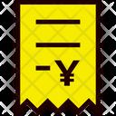 Invoice Yen Icon