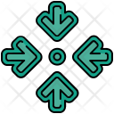 Inward Arrow Minimize Icon