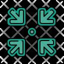 Inward Minimize Arrow Icon