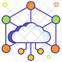 Iot Cloud Network Cloud Computing Icon